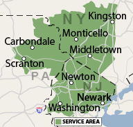 Our New Jersey, New York and Pennsylvania Service Area